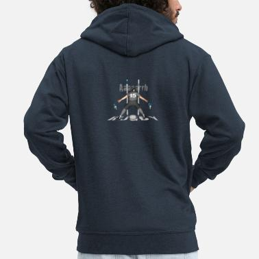 Lyon Rugby Toulousain RUGBY 15 players gray - Men's Premium Zip Hoodie