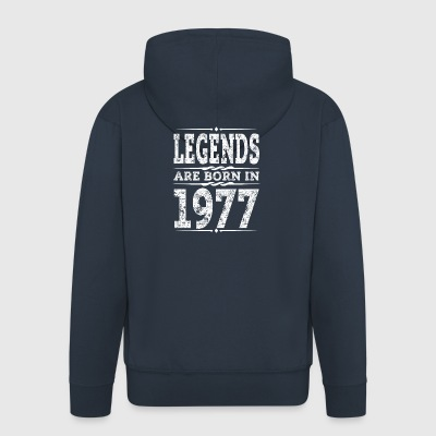 legends are born in 1977 - Men's Premium Hooded Jacket