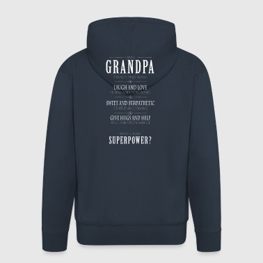 Grandpa Shirt supermakt - Premium Hettejakke for menn
