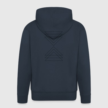 triangle - Men's Premium Hooded Jacket