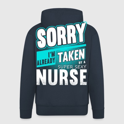Assigned to a super sexy nurse - Men's Premium Hooded Jacket