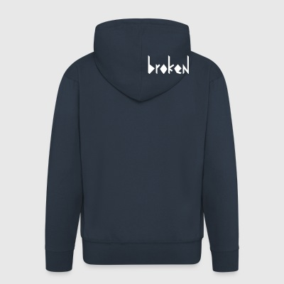 broken - Men's Premium Hooded Jacket