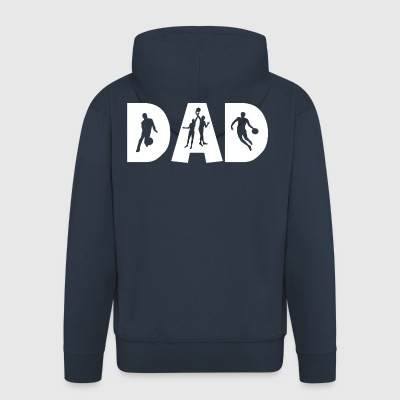 Basketball DAD - Men's Premium Hooded Jacket