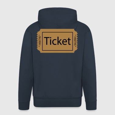2541614 15474465 ticket - Men's Premium Hooded Jacket