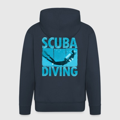 diver - Men's Premium Hooded Jacket