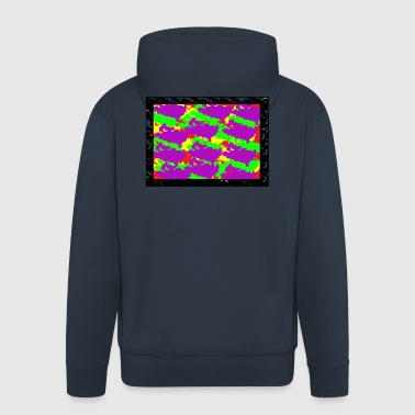 pixel design - Men's Premium Hooded Jacket