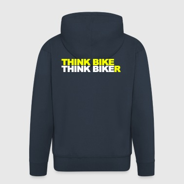 Think Bike Think Biker - Men's Premium Hooded Jacket