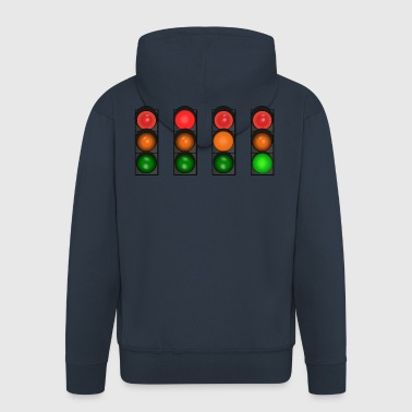 traffic light - Men's Premium Hooded Jacket