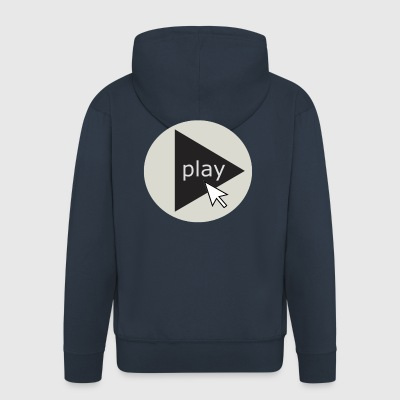 play - Men's Premium Hooded Jacket