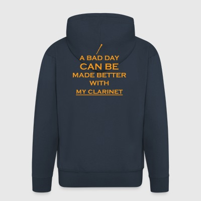 gift bad day better clarinet clarinet - Men's Premium Hooded Jacket