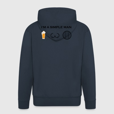 simple man boobs beer beer tits cycling mature w - Men's Premium Hooded Jacket