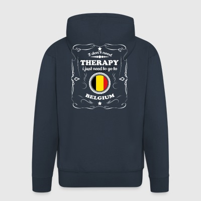 DON T NEED THERAPY WANT GO BELGIUM - Men's Premium Hooded Jacket