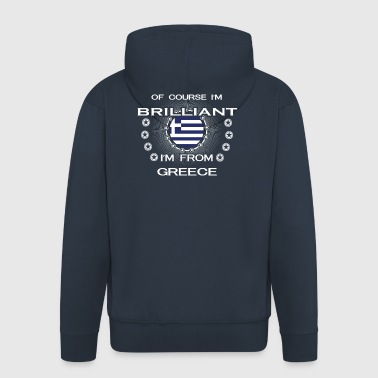 I AM GENIUS CLEVER BRILLIANT GREECE - Men's Premium Hooded Jacket