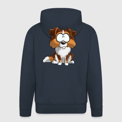 I Am Australian Shepherd Red Tricolor Tail - Men's Premium Hooded Jacket