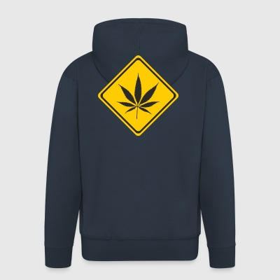 Beware cannabis - Men's Premium Hooded Jacket