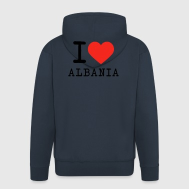 I love Albania - Men's Premium Hooded Jacket