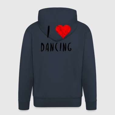 I love dancing dancing song party gift idea - Men's Premium Hooded Jacket