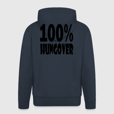 100 hungover - Men's Premium Hooded Jacket
