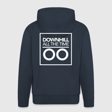 Downhill all the time - White - Premium-Luvjacka herr