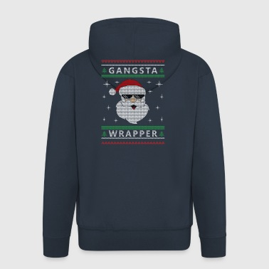 Christmas Gangsta Wrapper - Men's Premium Hooded Jacket