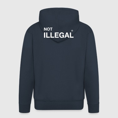 not illegal refugee immigrants immigrants demo - Men's Premium Hooded Jacket
