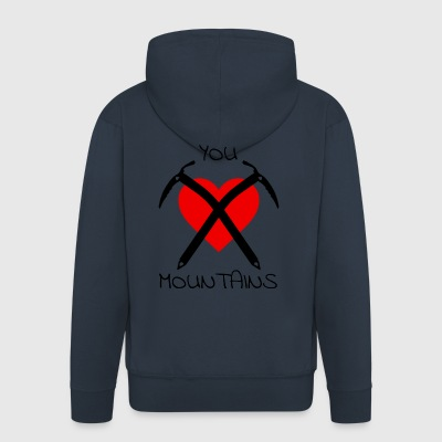 You Love Mountains - Logo mit Text - Männer Premium Kapuzenjacke