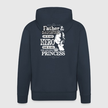 Far dotter Family Hero Princess Gift - Premium-Luvjacka herr