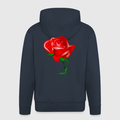 The Red Rose - Men's Premium Hooded Jacket