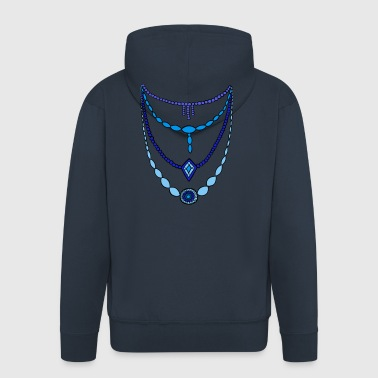 Chain blue by Syymbols - Men's Premium Hooded Jacket