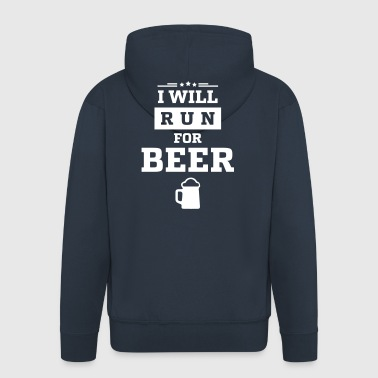 I WANT RUN FOR BEER - Men's Premium Hooded Jacket