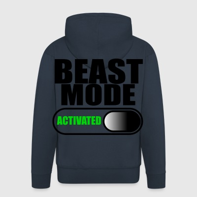 beast mode - Men's Premium Hooded Jacket
