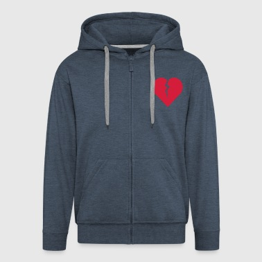 broken_heart - Men's Premium Hooded Jacket
