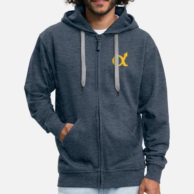 Strong alphamale symbol - Men's Premium Zip Hoodie