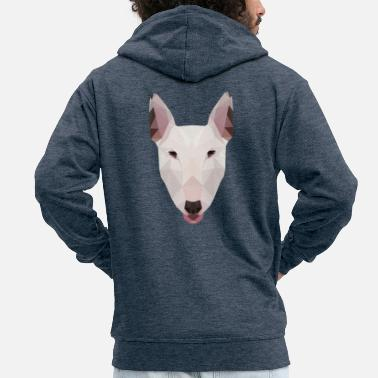 English Bull Terrier Artwork - Men's Premium Hooded Jacket