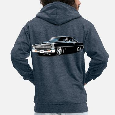 Chevy Chevy II Nova Super Sport - Men's Premium Hooded Jacket