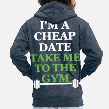 body building - Men's Premium Zip Hoodie