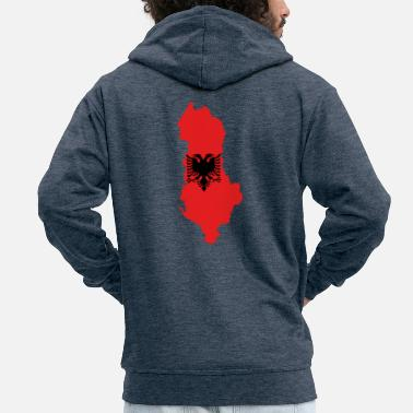 Bandera albania - Men's Premium Hooded Jacket