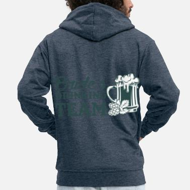 Wedding Party Wedding marriage wedding ceremony love loyalty gift idea - Men's Premium Zip Hoodie