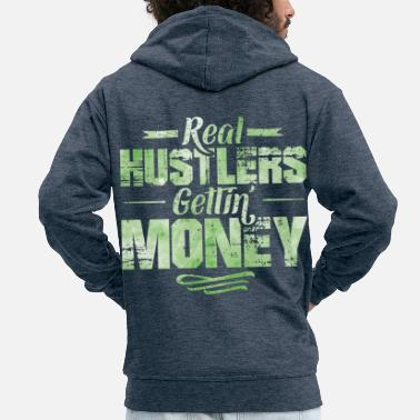Dollar Hustle hip hop rap saying money - Men's Premium Zip Hoodie