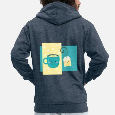 Tea For Tea Cup And Tea Bag Tea - Men's Premium Zip Hoodie