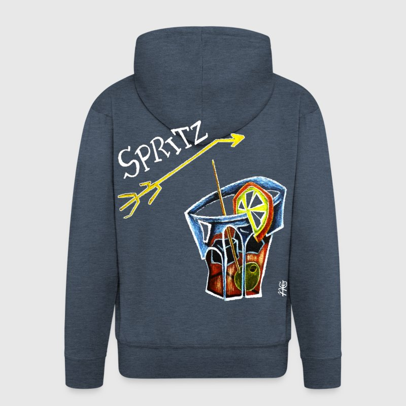 Spritz Aperol Party T-shirts Venice Italy - Energy Drink - Men's Premium Hooded Jacket