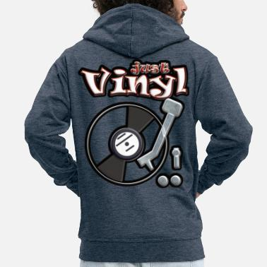Turntable Just vinyl turntable metallic - Men's Premium Zip Hoodie