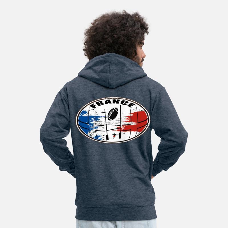 France À Premium Veste Sport 02 Spreadshirt Capuche Rugby Homme qpzwUqF