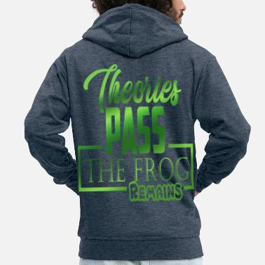 Froschlurch Frog Frogs Save the Frogs Green saying - Men's Premium Zip Hoodie