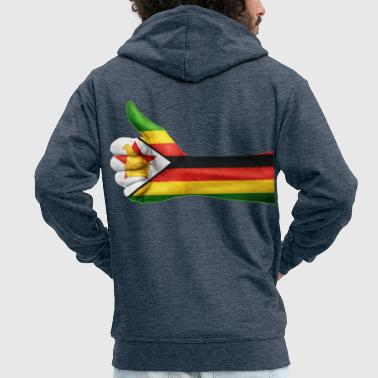 Zimbabwe zimbabwe collection - Men's Premium Hooded Jacket