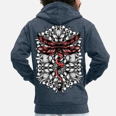 Dragonfly dragonfly - Men's Premium Hooded Jacket