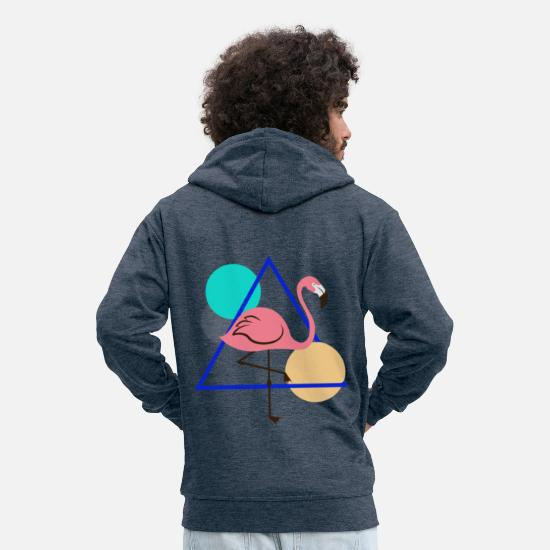 Bestsellers Q4 2018 Hoodies & Sweatshirts - Geometric - Men's Premium Zip Hoodie heather denim