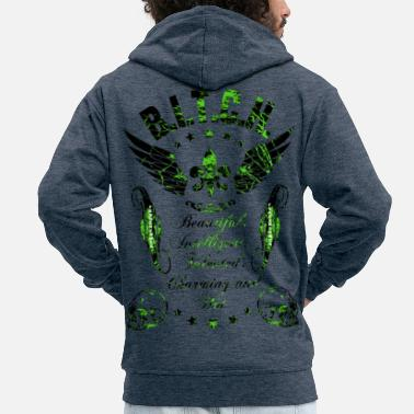 Dream Woman BITCH - Men's Premium Zip Hoodie
