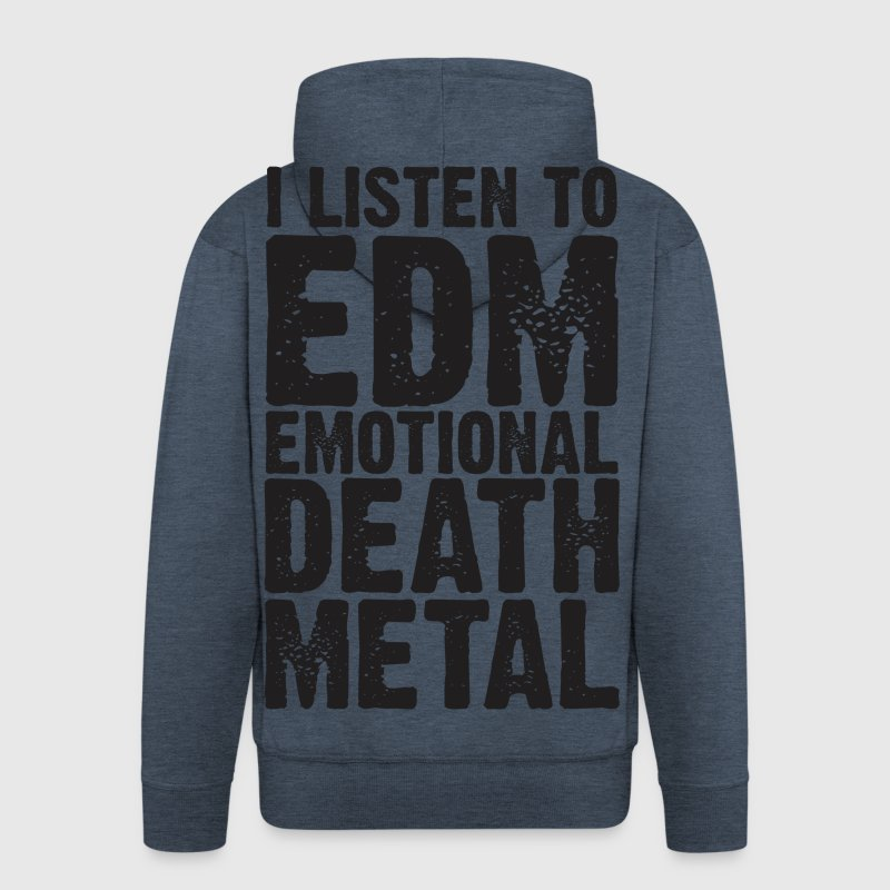 EDM EMOTIONAL DEATH METAL - Men's Premium Hooded Jacket