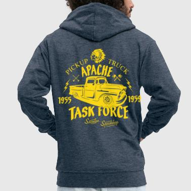Apache Pick Up Truck - Men's Premium Hooded Jacket